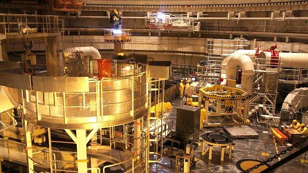 Cesta do reaktorového sálu v Temelíně