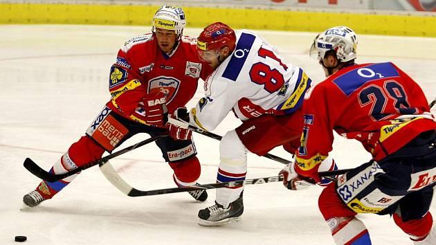 Utkání Tip sport cupu ELH mezi HC Mountfield České Budějovice a HC Eaton Pardubice.