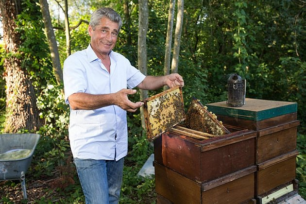 Jemu včely vzahradě nevadí…