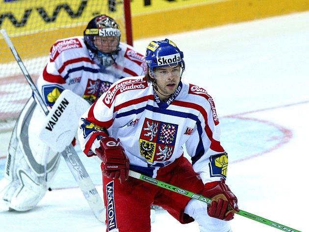 Budějovický hokejista hraje v reprezentaci.