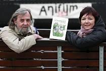 Rodiče Lichožroutů, Pavel Šrut a Galina Miklínová, přijeli do Třeboně na festival Anifilm.