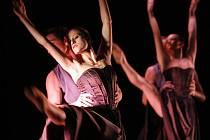 Balet Jihočeského divadla uvede v pátek pod názvem Taneční delikatesy tři choreografie (snímek ze zkoušky): od šéfa souboru Attily Egerháziho, Václava Kuneše a Jiřího Kyliána.