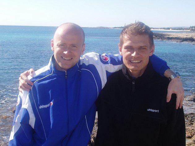 Jaromír Plocek a Jaroslav Hílek na Kypru.