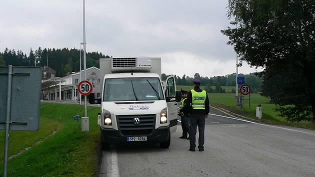 Policie posílila kontroly také na hraničním přechodu Studánky u Vyššího Brodu na Českokrumlovsku.