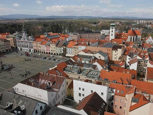 Pohled na České Budějovice. Ilustrační foto.