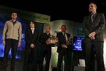 Nejúspěšnějším sportovním kolektivem  roku 2009 je Jihostroj ČB. Zleva Stanislav Pochop, David Juračka, Michal Sládeček, Vladislav Smrčka a Jan Diviš.