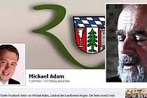 Hejtman Adam vlevo na svém facebooku.