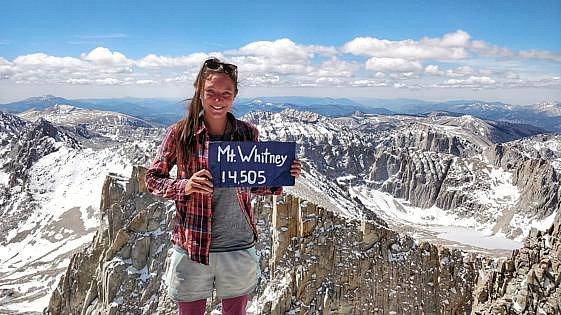 Na vrcholu Mt. Whitney.