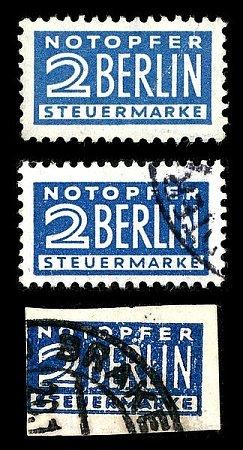 Zvláštní známka pro pomoc blokovanému Berlínu.