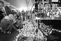 Zhruba pět stovek truchlících fanoušků přišlo uctít památku českých hokejistů, kteří zahynuli při středečním leteckém neštěstí u ruské Jaroslavle.
