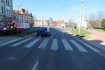 Snímek z místa dopravní nehody.