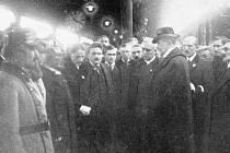 Uvítání T. G. Masaryka v Českých Budějovicích dne 20. prosince 1918.