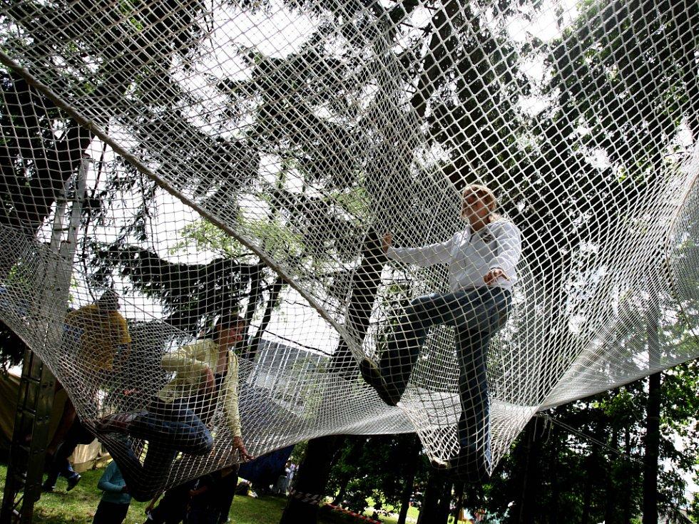 Zajímavé aktivity, neokoukané hry, to všechno si mohly děti na Bambiriádě vyzkoušet.