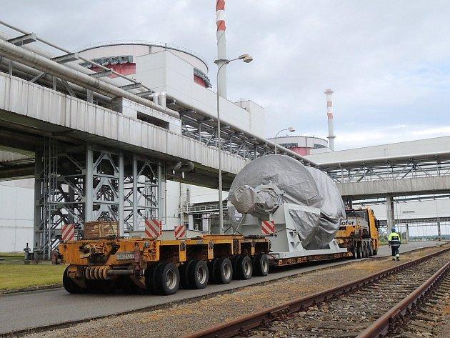 Poslední rotor největší české turbíny dorazil na Temelín