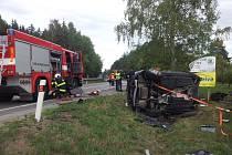 Vážná dopravní nehoda se stala v pátek dopoledne v Týně nad Vltavou.