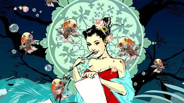 Novou grafiku pro třeboňský Anifilm navrhla 34letá animátorka Kateřina Bažantová. Nese se lehce v muchovském duchu.