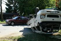 V pondělní odpolední špičce, před šestnáctou hodinou, se malinko zkomplikovala doprava v rušné Vrbenské ulici v krajském městě touto havárií.