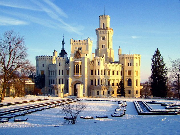 Takhle uvidí v letošní zimě zámek Hluboká návštěvníci zimních prohlídek, které jsou premiérovým experimentem v jižních Čechách.
