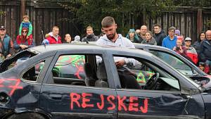Demoliční derby na výstavišti, celkový vítěz Daniel Zíka.