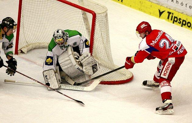 Utkání hokejové Tipsport Extraligy mezi HC České Budějovice a BK Mladá Boleslav.