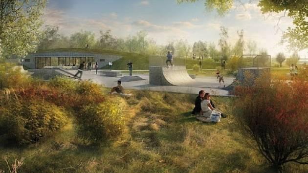 Součástí nového parku bude i skatepark.