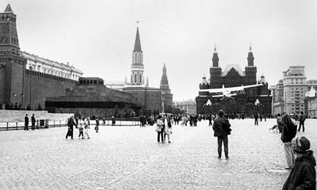 Historie… Cesna na Rudém náměstí!