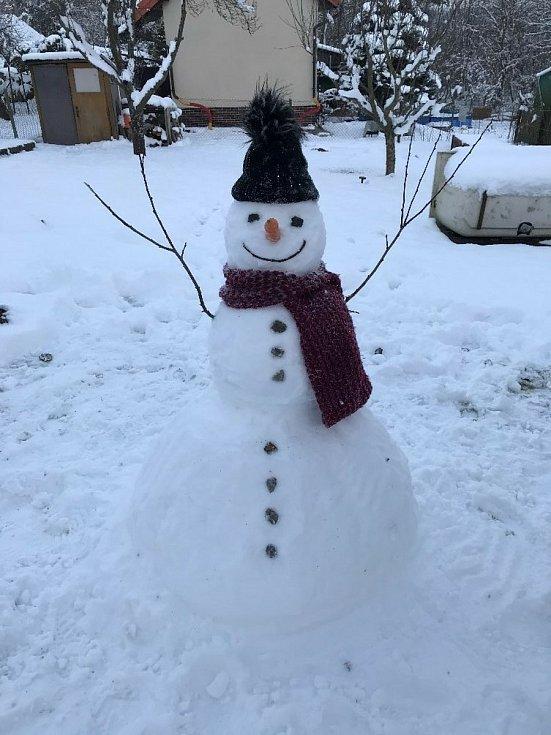 Nejhezčího sněhuláka postavili Kadlecovi.