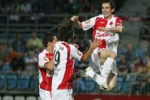David Kalivoda po gólu na 0:1.