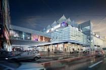 Další obchodní centrum (vizualizace ukazuje podobu, se kterou se počítalo při zahájení příprav projektu) má začít na podzim růst na rohu Pekárenské ulice a Pražské třídy.