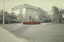 Návrh památníku letcům z dílny pražského ateliéru H3T architekti. Ten nakonec porota vybrala jako vítězný.