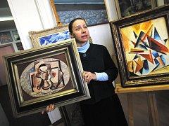 Ve dvou samostatných dražbách  se budou  nabízet dva obrazy s nejvyšší vyvolávací cenou : Emil Filla a Alexandra Exter.