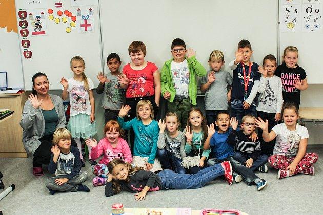 Žáci třídy 1.Aze Základní školy Emy Destinové.