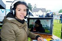 Anna Lallitschová při práci.