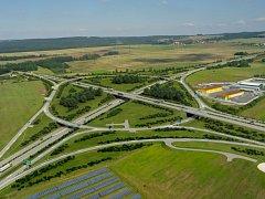 Vizualizace podoby křižovatky dálnice D3 a silnice České Budějovice - Lišov.