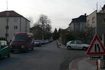 Hálkova ulice v Českých Budějovicích.