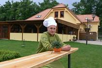 Slavnostní menu pro pana prezidenta dnes v třeboňské restauraci Pěšárna chystá šéfkuchař Jan Šílený.