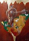 Malíř a scénograf Tomáš Paul, který žil poslední léta v Třeboni, zemřel 6. května 2015. Bylo mu 68 let. Na snímku jeden z jeho obrazů.