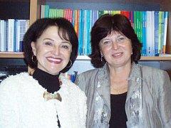 Profesorka Alena Jaklová a docentka Hana Andrášová (zleva) z Jihočeské univerzity.