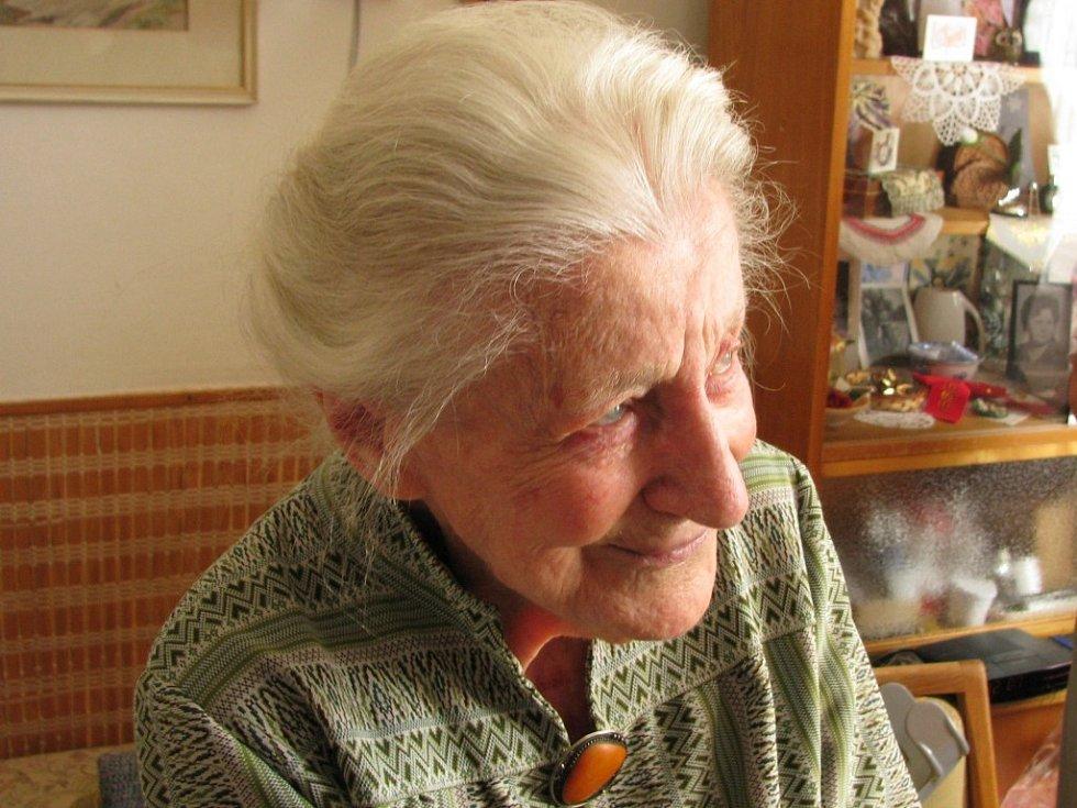 Marie Švingerová se v neděli dožila významného životního jubilea – sta let.
