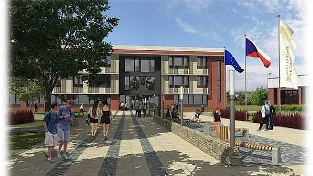 Plánovaná podoba nové budovy Přírodovědecké fakulty.