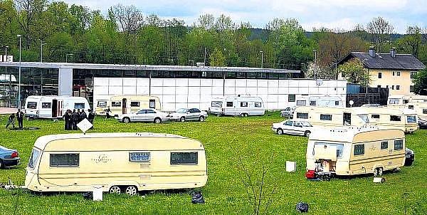 Tábor u Schwanenstadtu.