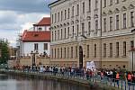 Českobudějovický Majáles 2020. Průvod městem.