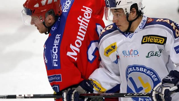 Ve 44. kole extraligy hokejisté HC Mountfield deklasovali Plzeň 6:1.