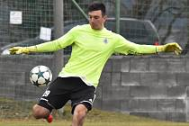 Matěj Luksch byl v zápase devatenáctky Dynama se Slováckem (1:0) oporou vítězů.