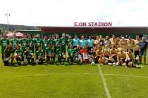 Pomáháme fotbalem, exhibice v Roudném