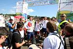 Příjezd olympijských medailistů do parku Ria - Lipna