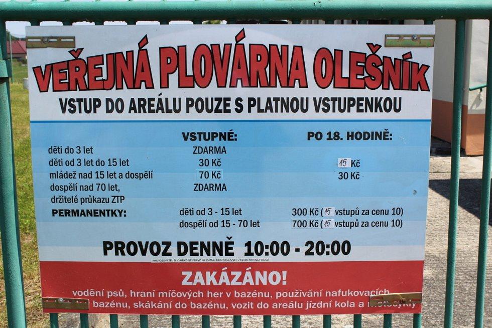 Plovárna v Olešníku zahájila v roce 2020 provoz o posledním červnovém víkendu.