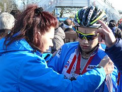 Mistrovství světa v cyklokrosu v Táboře, Jakub Skála vv cíli