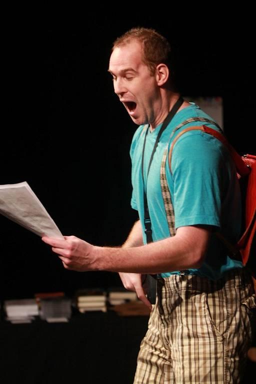 Projekt scénického čtení Listování oslavil 30. listopadu v Českých Budějovicích deset let. Na snímku Pavel Oubram.