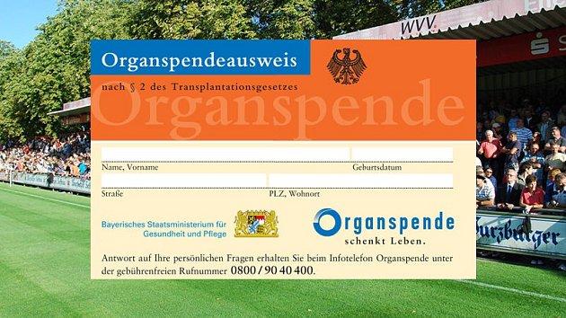 Bavorský průkaz dárce orgánů.